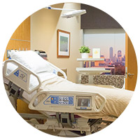 New Parkland patient room