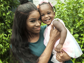 Taelor and daughter