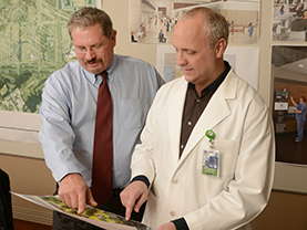 Kent Weimer and Dr. Kevin Johnson