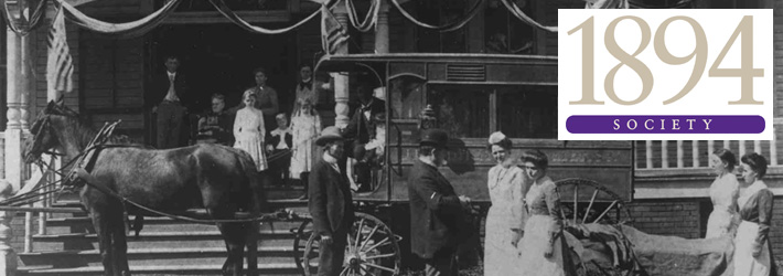 Historic photo outside Parkland Hospital in 1800s