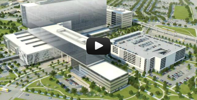 New Parkland Hospital Flyover Video Image